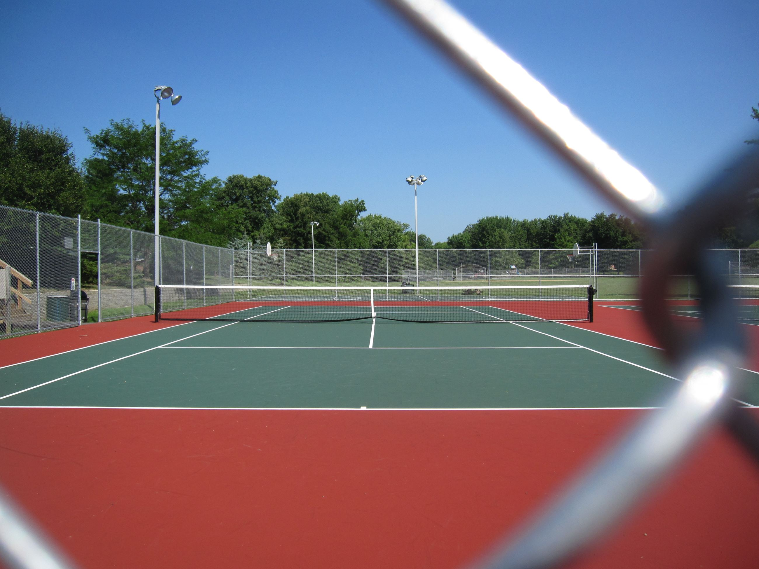 Tennis Court in Lever Park